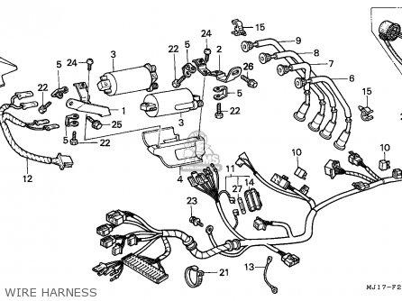 Honda Cbx750p2 1990 l Mexico   Plr Wire Harness
