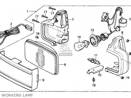 Honda Cbx750p2 1990 l Mexico   Plr Working Lamp