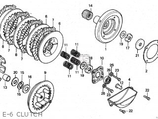honda cd100ss hero india parts lists and schematics Electric Clutch Diagram e 6 clutch