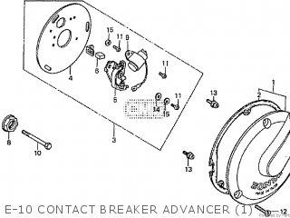 Honda Cd195ta E-10 Contact Breaker Advancer 1