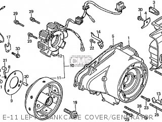 Honda Cd195ta E-11 Left Crankcase Cover generator