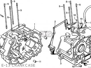 Honda Cd195ta E-13 Crankcase