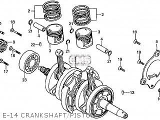 Honda Cd195ta E-14 Crankshaft piston