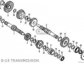 Honda Cd195ta E-15 Transmission
