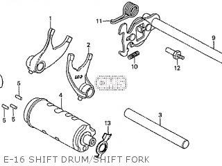 Honda Cd195ta E-16 Shift Drum shift Fork