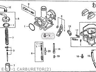 Honda Cd195ta E-17-1 Carburetor2