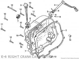 Honda Cd195ta E-6 Right Crankcase Cover