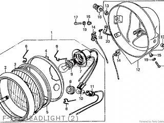 Honda Cd195ta F-1-1 Headlight 2