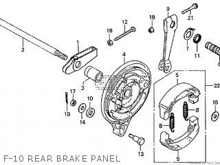 Honda Cd195ta F-10 Rear Brake Panel