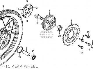 Honda Cd195ta F-11 Rear Wheel