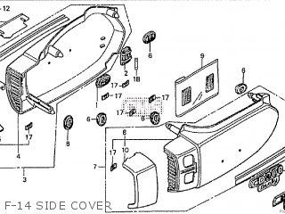 Honda Cd195ta F-14 Side Cover