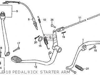 Honda Cd195ta F-18 Pedal kick Starter Arm