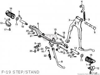 Honda Cd195ta F-19 Step stand