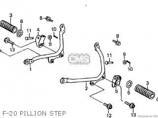 Honda Cd195ta F-20 Pillion Step