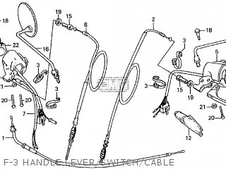 Honda Cd195ta F-3 Handle Lever switch cable