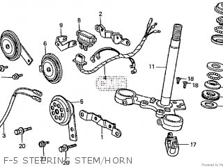 Honda Cd195ta F-5 Steering Stem horn