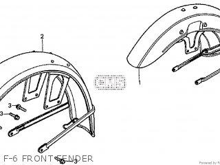 Honda Cd195ta F-6 Front Fender