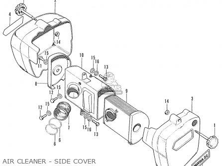 Honda Cd90z General Export Air Cleaner - Side Cover