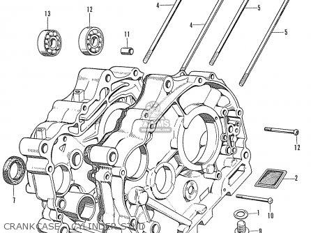 Honda Cd90z General Export Crankcase - Cylinder Stud