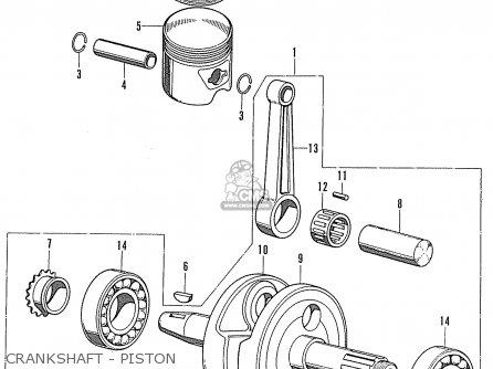 Honda Cd90z General Export Crankshaft - Piston