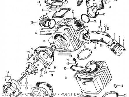 Honda Cd90z General Export Cylinder - Cylinder Head - Point Base