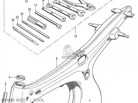 Honda Cd90z General Export Frame Body - Tool