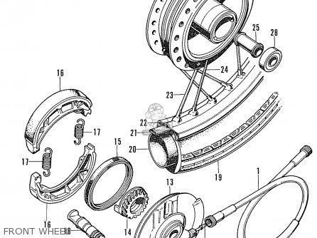 Honda Cd90z General Export Front Wheel