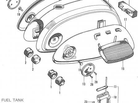 Honda Cd90z General Export Fuel Tank
