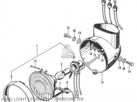 Honda Cd90z General Export Head Light stanley - Speedometer
