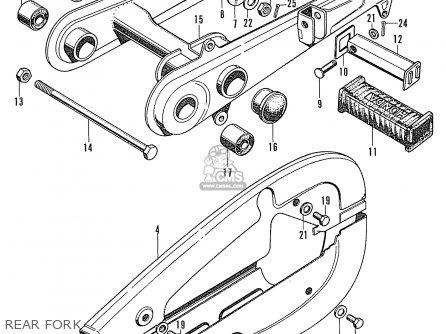 Honda Cd90z General Export Rear Fork