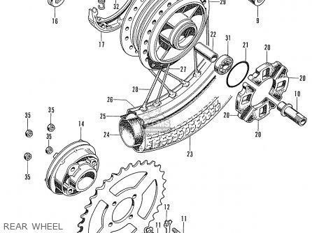 Honda Cd90z General Export Rear Wheel