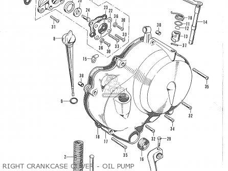 Honda Cd90z General Export Right Crankcase Cover - Oil Pump