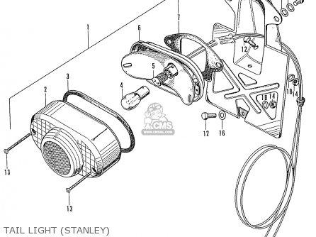 Honda Cd90z General Export Tail Light stanley