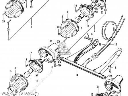 Honda Cd90z General Export Winker stanley