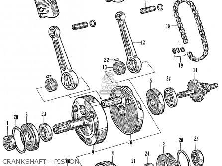 Honda Ce71 Dream Super Sport Crankshaft - Piston