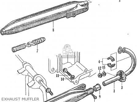 Honda Ce71 Dream Super Sport Exhaust Muffler