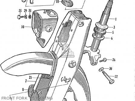 Honda Ce71 Dream Super Sport Front Fork - Steering