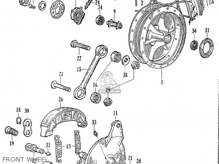 Honda Ce71 Dream Super Sport Front Wheel
