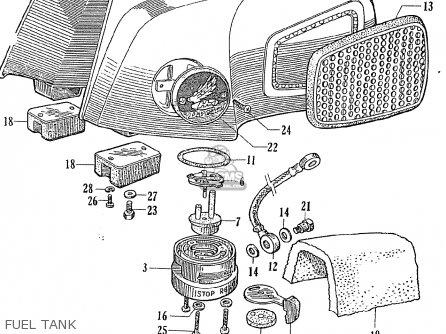 Honda Ce71 Dream Super Sport Fuel Tank