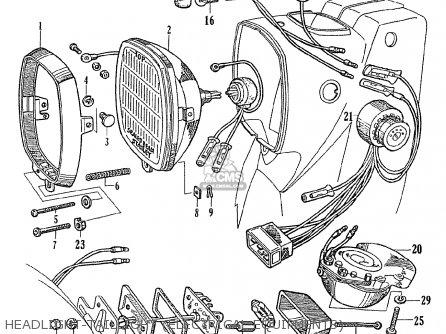 Honda Ce71 Dream Super Sport Headlight-taillight electrical Equipments