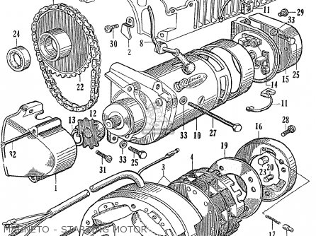 Honda Ce71 Dream Super Sport Magneto - Starting Motor