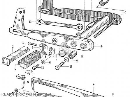 Honda Ce71 Dream Super Sport Rear Fork - Chain Case