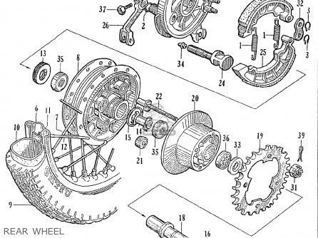 Honda Ce71 Dream Super Sport Rear Wheel