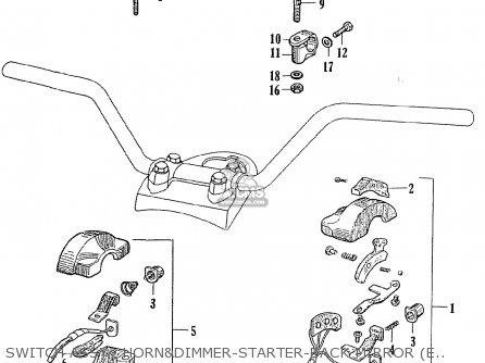 Honda Ce71 Dream Super Sport Switch Assy   Horndimmer-starter-back Mirror electr equipment