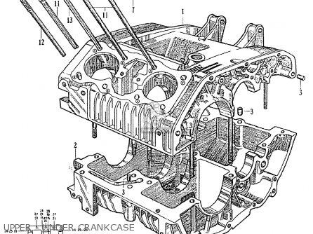 Honda Ce71 Dream Super Sport Upper - Under Crankcase
