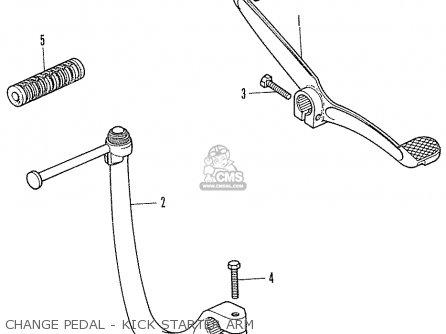 Honda Cf70 Chaly General Export England Australia France Change Pedal - Kick Starter Arm