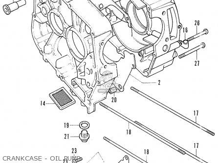 Honda Cf70 Chaly General Export England Australia France Crankcase - Oil Pump