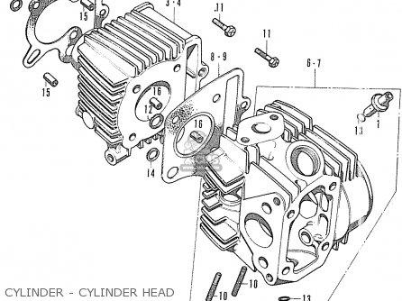Honda Cf70 Chaly General Export England Australia France Cylinder - Cylinder Head