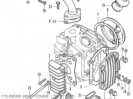 Honda Cf70 Chaly General Export England Australia France Cylinder Head Cover - Inlet Pipe