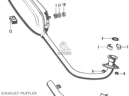 Honda Cf70 Chaly General Export England Australia France Exhaust Muffler